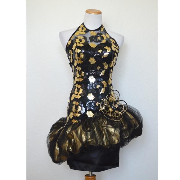 8f653b318c9 Vintage 80 s Formal Prom Party Dress Metallic. M 5b4e3217aaa5b8d563b521d4